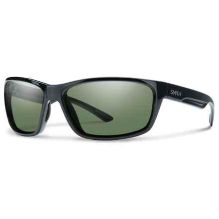 Smith Optics Redmond Sunglasses - Polarized ChromaPop® Lenses (For Men) in Black/Gray Green - Overstock
