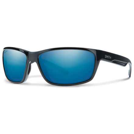 Smith Optics Redmond Sunglasses - Polarized Techlite Glass Lenses in Black/Blue Mirror - Closeouts
