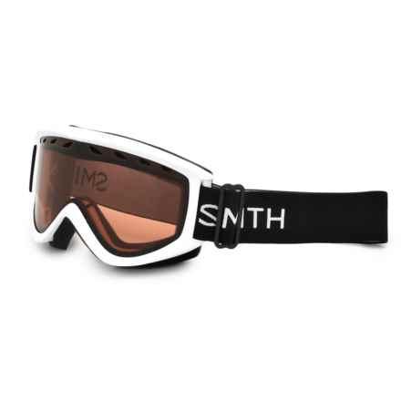 Smith Optics Ridgeline Ski Goggles in White/Rc36 - Closeouts