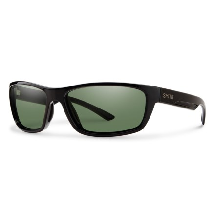 44285483e75 Smith Optics Ridgewell Sunglasses - Polarized ChromaPop® Lenses in Black Gray  Green - Closeouts