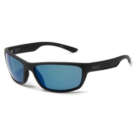 Smith Optics Ridgewell Sunglasses - Polarized ChromaPop® Lenses in Matte Black/Blue Mirror