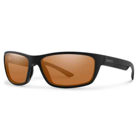 Smith Optics Ridgewell Sunglasses - Polarized ChromaPop® Lenses in Matte Black/Copper - Overstock