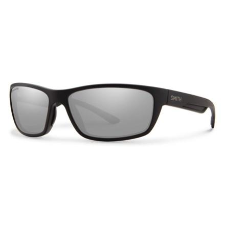 b0073161e3 Smith Optics Ridgewell Sunglasses - Polarized ChromaPop® Lenses in Matte  Black Platinum - Closeouts