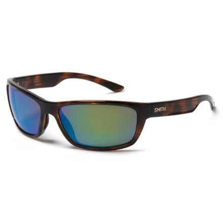 Smith Optics Ridgewell Sunglasses - Polarized Techlite Glass Lenses in Tortoise/Green Mirror - Closeouts