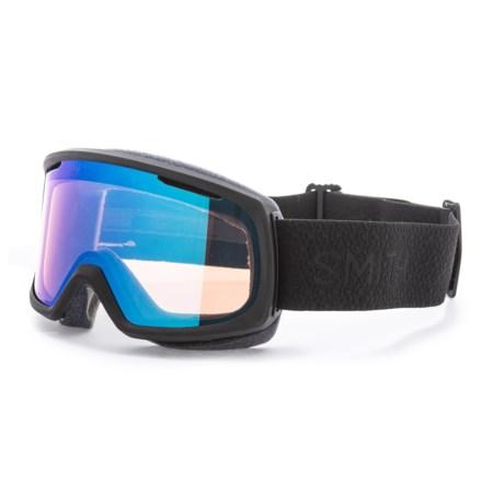 Smith Optics Riot Ski Goggles - Extra Lens (For Women) in Black Mosaic/Chromapop Storm Rose Flash