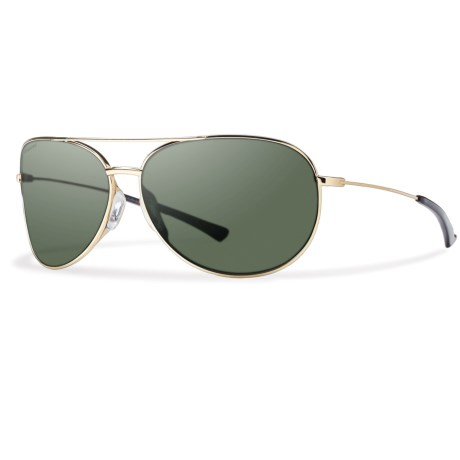 Smith Optics Rockford Slim Sunglasses - Polarized Carbonic Lenses in Gold/Grey/Green