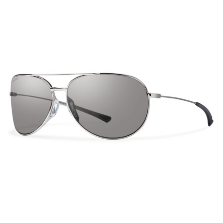 Smith Optics Rockford Slim Sunglasses - Polarized Carbonic Lenses in Silver/Polar Platinum