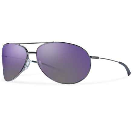 Smith Optics Rockford Sunglasses in Gunmetal/Purple Sol-X - Closeouts