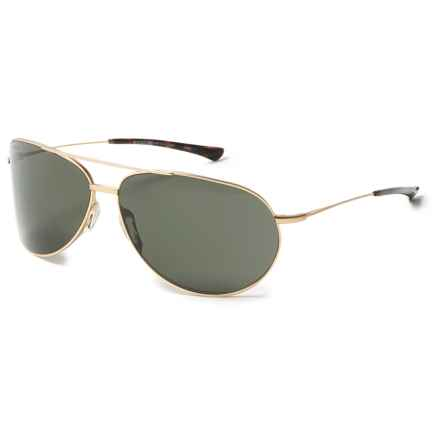 Smith Optics Rockford Sunglasses - Polarized Carbonic Lenses in Matte Gold/Green - Overstock