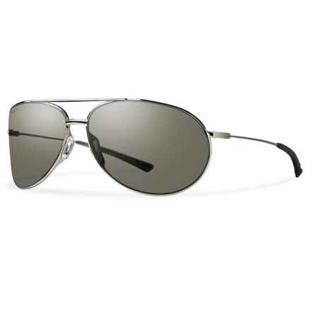 Smith Optics Rockford Sunglasses - Polarized Carbonic Lenses in Silver/Platinum - Overstock