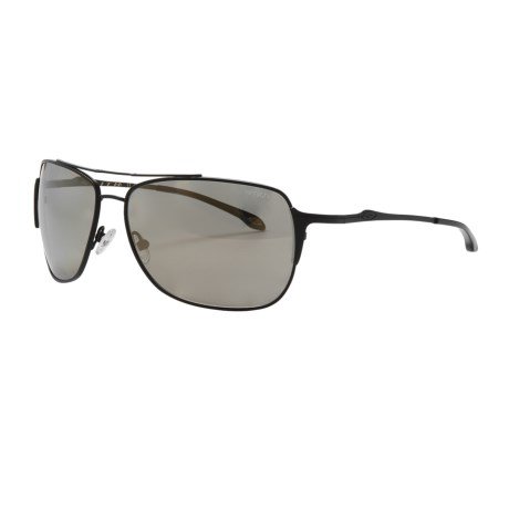 Smith Optics Rosewood Sunglasses - Polarized (For Women) in Matte Black/Gold Mirror
