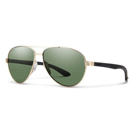 a2c0324d5066a Smith Optics Salute Sunglasses - Polarized (For Women) in Gold Gray Green