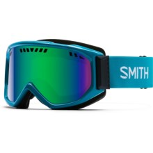 Smith Optics Scope Graphic Ski Goggles in Pacific/Green Sol-X - Closeouts