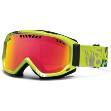 Smith Optics Scope Graphic Snowsport Goggles in Lime Mission/Red Sensor Mirror - Closeouts