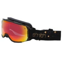 Smith Optics Showcase OTG Ski Goggles in Black Gold Fridays/Red Sensor Mirror - Closeouts