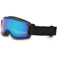 Smith Optics Showcase OTG Ski Goggles in Black Lux/Blue Sensor - Closeouts