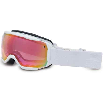 Smith Optics Showcase OTG Ski Goggles in White Gbf/ Red Sensor Mirror - Closeouts