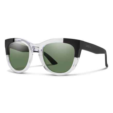 Smith Optics Sidney Sunglasses - ChromaPop® Polarized Lenses (For Women) in Crystal Black Block/Gray Green - Closeouts