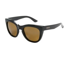 Smith Optics Sidney Sunglasses - Polarized in Black/Brown - Closeouts