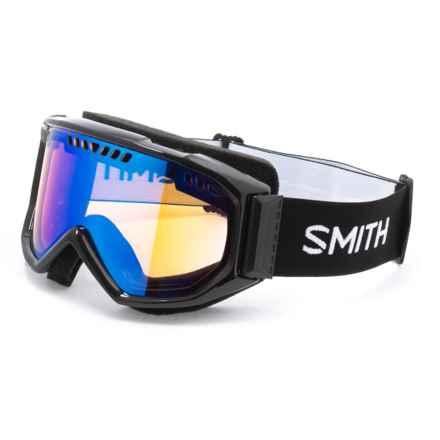 Smith Optics Smith Sport Optics Airflow Snowsport Goggles in Black/Blue Sensor Mirror - Closeouts