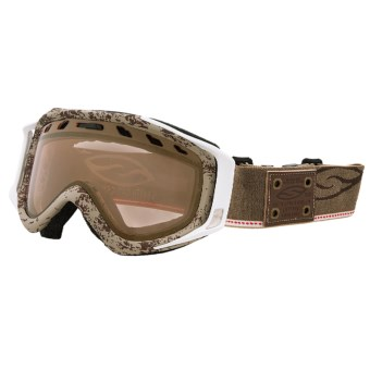 Smith Optics Stance Snowsport Goggles - Gold Sensor Mirror Lens in Classic Brown/Gold Sensor