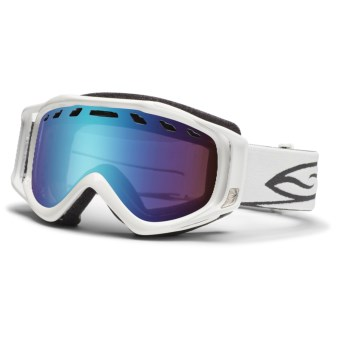 Smith Optics Stance Snowsport Goggles - Interchangeable Lens in White/ Sensor Mirror