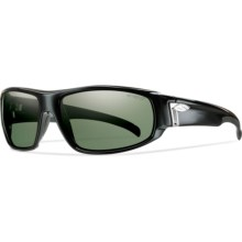 Smith Optics Tenet Sunglasses - ChromaPop Polarized Lenses in Black/Gray Green - Closeouts