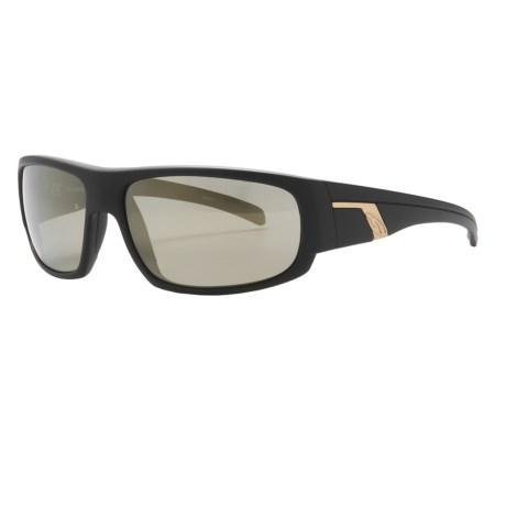 Smith Optics Terrace Sunglasses - Polarized in Matte Black/Gold Mirror