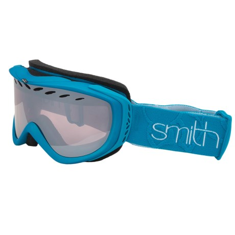Smith Optics Transit Pro Snowsport Goggles in Aqua/Ignitor Mirror