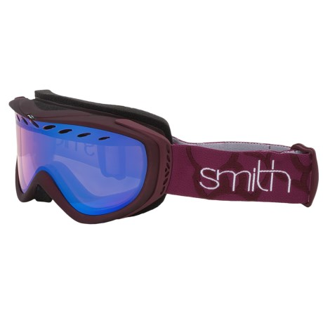 Smith Optics Transit Pro Snowsport Goggles in Blackberry/Blue Sensor Mirror