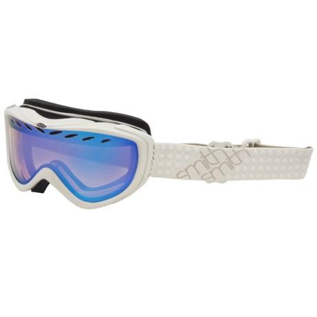 Smith Optics Transit Pro Snowsport Goggles in Bone/Blue Sensor