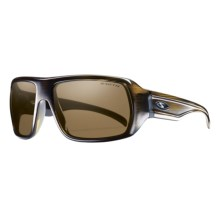 Smith Optics Vanguard Sunglasses - Polarized in Olive Stripe/Polarized Brown - Closeouts