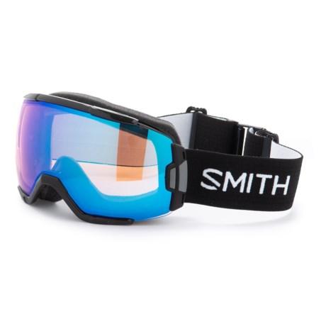 Smith Optics Vice Ski Goggles - Black Frame, Spherical Carbonic-X Lens in Black/ Chromapop Photochromic Rose Flash