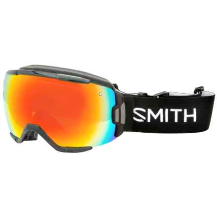 Smith Optics Vice Ski Goggles - Black Frame, Spherical Carbonic-X Lens in Black/Red Sol-X - Closeouts