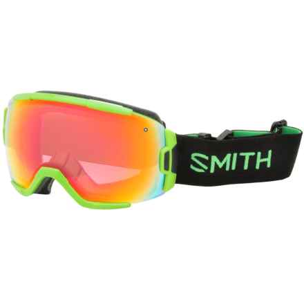 Smith Optics Vice Ski Goggles - White Frame, Spherical Carbonic-X Lens in Reactor/White/Photochromic/Red Sensor - Closeouts