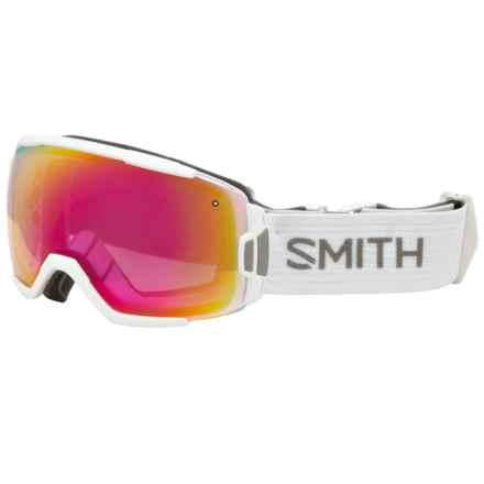 Smith Optics Vice Ski Goggles - White Frame, Spherical Carbonic-X Lens in White/White/Photochromic/Red Sensor - Closeouts
