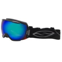 Smith Optics Vice Snowsport Goggles in Black/Green Sol X Mirror - Closeouts