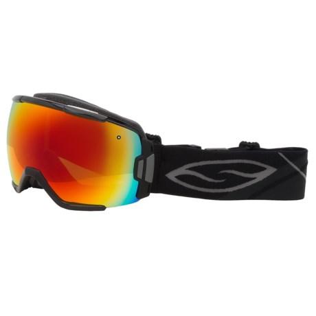 Smith Optics Vice Snowsport Goggles in Black/Red Sol-X Mirror