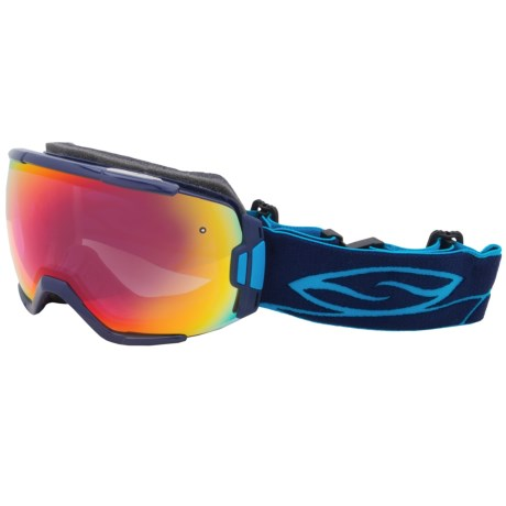 Smith Optics Vice Snowsport Goggles in Navy/Red Sensor Mirror