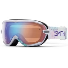 Smith Optics Virtue Ski Goggles (For Women) in White Wanderlust/Blue Sensor - Closeouts