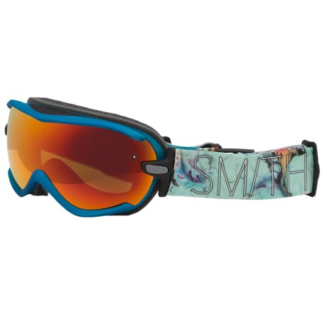 Smith Optics Virtue Snowsport Goggles (For Women) in Aqua Oil And Water/Red Sol X Mirror
