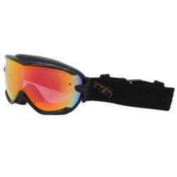 Smith Optics Virtue Snowsport Goggles (For Women) in Black Dazzle/Red Sensor
