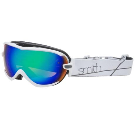 Smith Optics Virtue Snowsport Goggles (For Women) in White/Green Sol-X