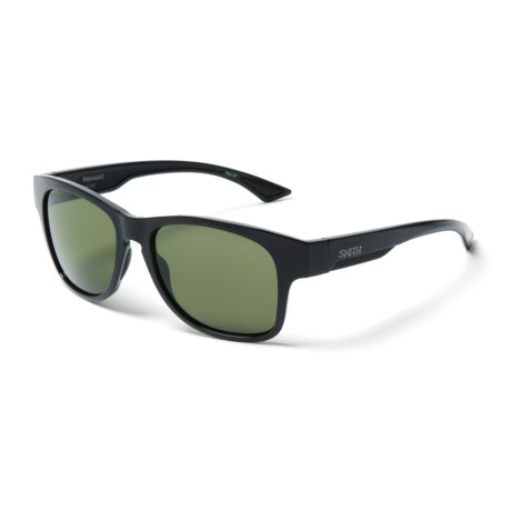 ee5b818ee8 Smith Optics Wayward Sunglasses - Polarized ChromaPop® Lenses (For Men) in  Black