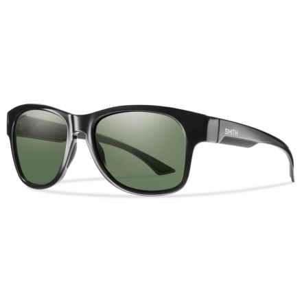 Smith Optics Wayward Sunglasses - Polarized ChromaPop® Lenses in Black/Gray/Green - Overstock