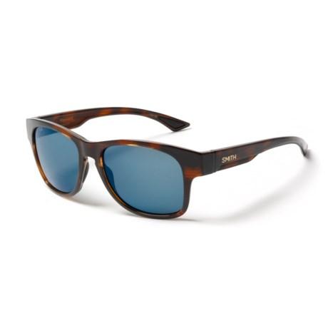Smith Optics Wayward Sunglasses - Polarized ChromaPop® Lenses in Havana/Blue Mirror