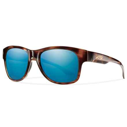 Smith Optics Wayward Sunglasses - Polarized ChromaPop® Lenses in Havana/Blue - Overstock