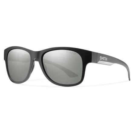 Smith Optics Wayward Sunglasses - Polarized ChromaPop® Lenses in Matte Black/Platnium - Overstock