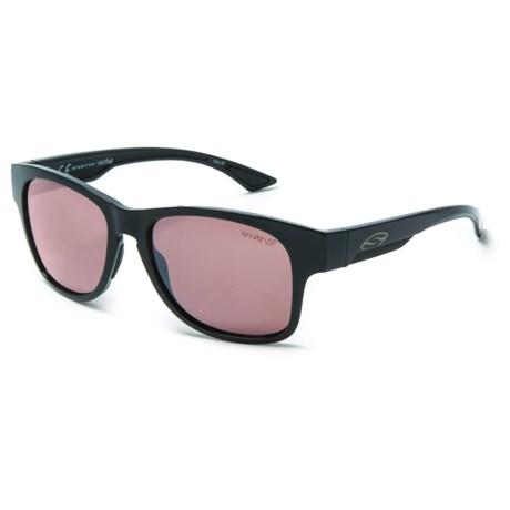 Smith Optics Wayward Sunglasses - Polarized Polarchromic Ignitor ChromaPop® Lenses in Black/Ignitor