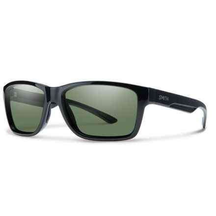 Smith Optics Wolcott Sunglasses - Polarized ChromaPop® Lenses in Black/Gray/Green - Overstock
